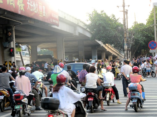 Haikou, Hainan traffic