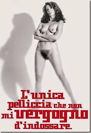 Marina Ripa di Meana nuda contro pellicce IFAW