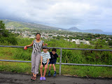 Maria and the boys at Diamond Head