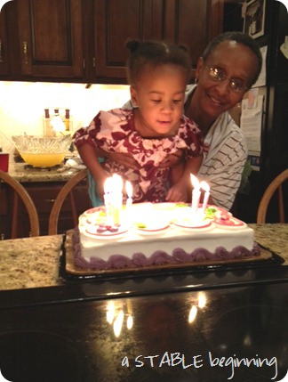 blowing candles out