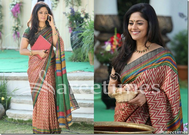 Nadhiya_Designer_Printed_Saree