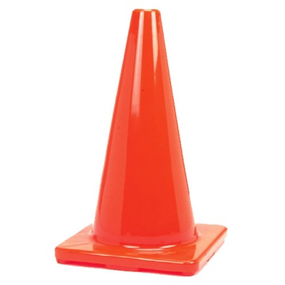 218481 rubber orange field marker game cone 28 inches