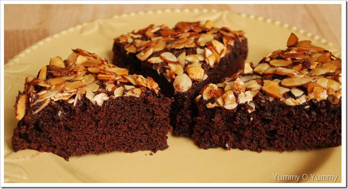 Chocolate Almond Upside-Down Cake