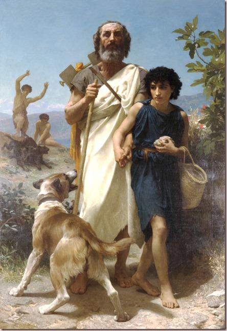 """Homero y su lazarillo"" - William Adolphe Bouguereau (1874)"