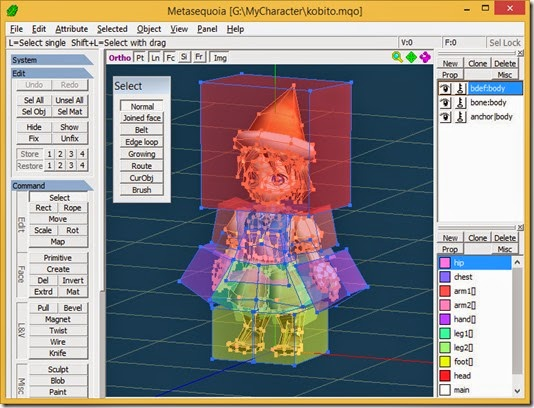 Open model in Metasequoia