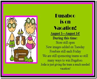 Bugaboo is on vacation