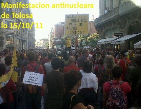 manifestacion antinucleara de Tolosa 151011