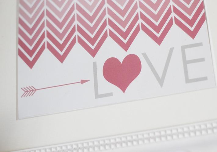 Love Printable with Cupid Arrow
