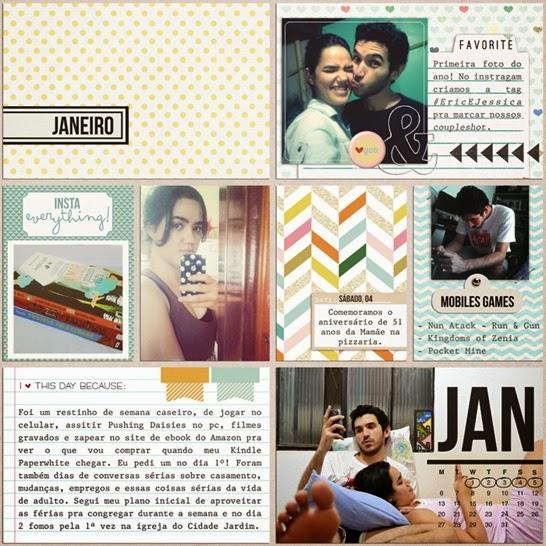 Project Life - Janeiro.2014 por Jessica Lauton do Gerânio Azul