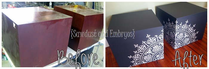 Chalkboard Cubes using Vinyl as a Stencil {Sawdust and Embryos}