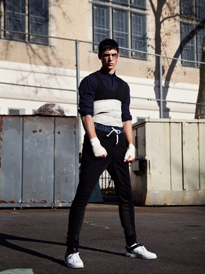 Chris Petersen @ DNA/Specimen/Nous by David Urbanke for U+ mag 2011.  Styled by Adrian Manuel.