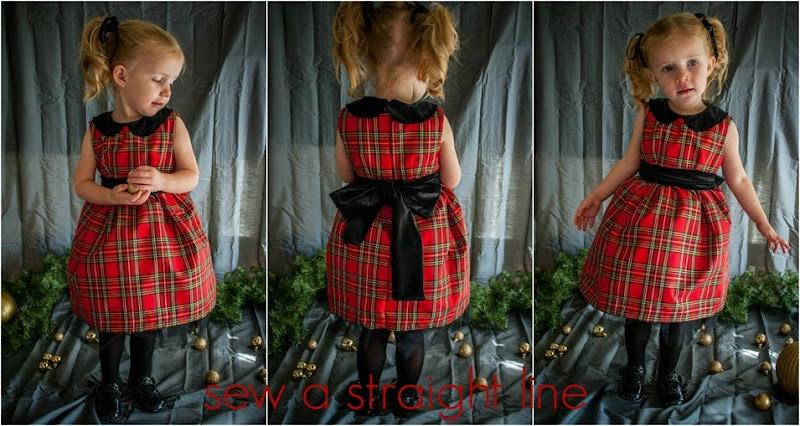 christmas vintage kate dress sew a straight line