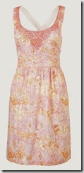 Fat Face Peach Stencil Leaves Summer Dress