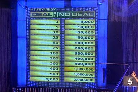 Kapamilya Deal Or No Deal - New Moneyboard