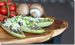Beef Mushroom Endive Taco