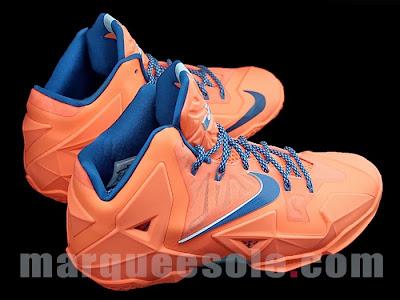 nike lebron 11 gr hardwood knicks 1 05 First Look at Nike LeBron 11 Hardwood Classic / Knicks