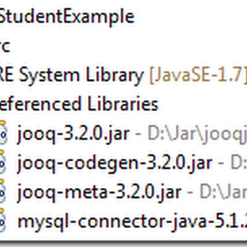 JOOQ Simple CRUD operation example