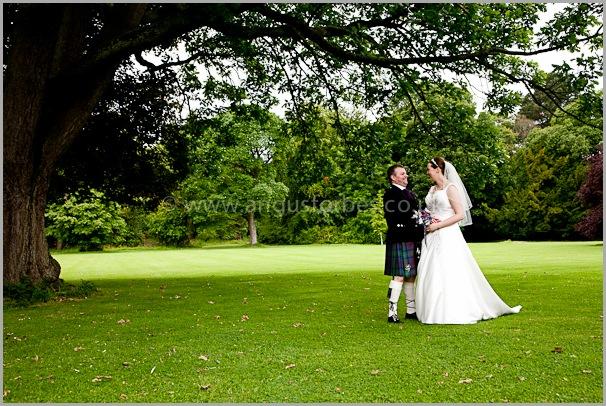 happy maried couple near edinburgh