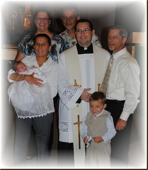 Darrens family at baptism
