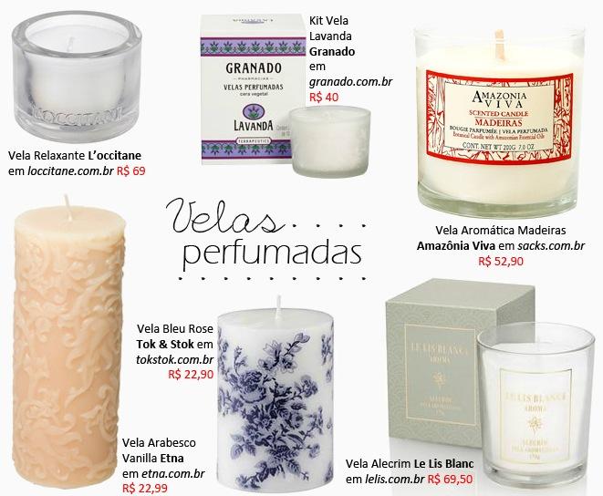 aromas para casa Velas perfumadas