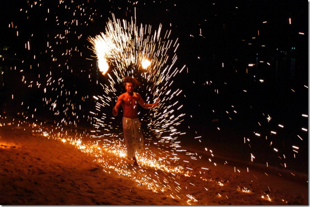 Fire Show on Ko Phi Phi Beach
