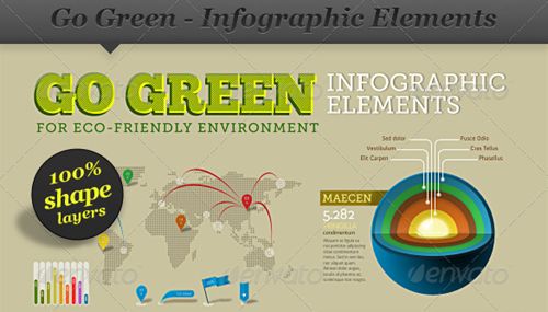 go green infographic elements