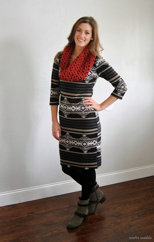 aztec sweater dress
