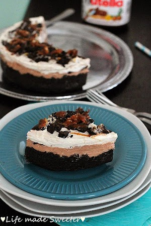 No-Bake Nutella Caramel Cheesecake Pie - Life made Sweeter 9.jpg