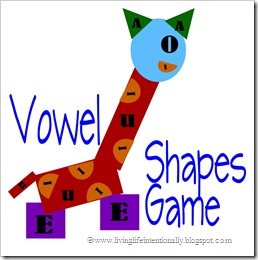 FREE Printable Vowel Shapes Game for Homeschoolers
