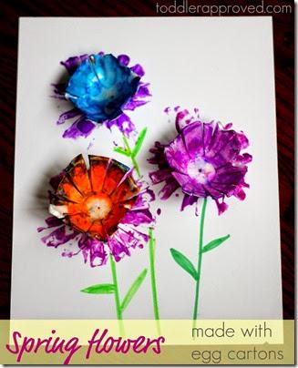 flores hechas con cajas de huevos (1)