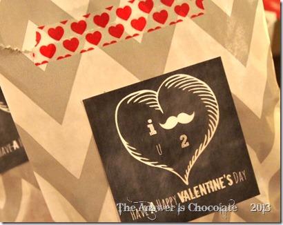 Mustache Valentine Treats