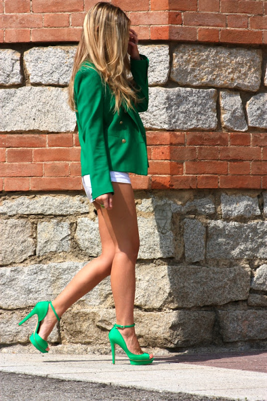 missoni, green, hite outfit, shoes