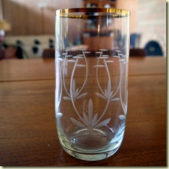 etched glass with lotus
