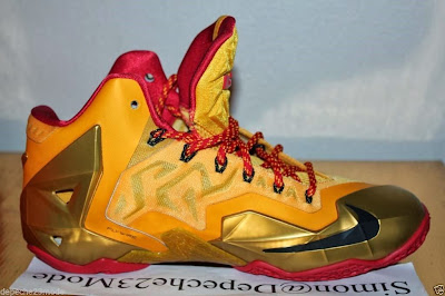 nike lebron 11 pe fairfax away 1 08 Nike LeBron XI (11) Fairfax Lions Away PE   Detailed Look
