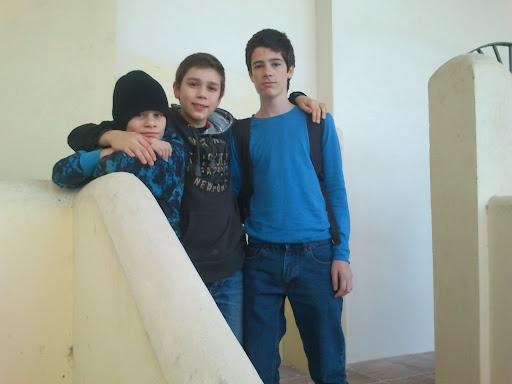 Sebastian Mihajlov, Samuel Riiser og Johan Salomon.