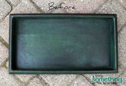 Faux Zinc Tray Before WM