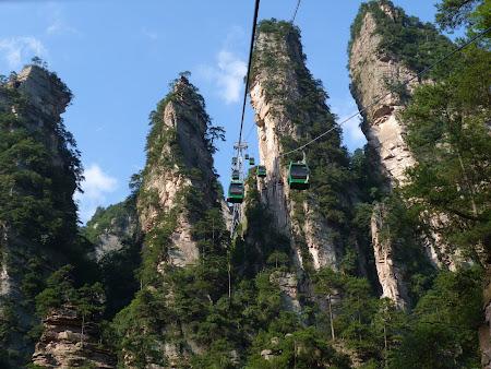 Obiective turistice China: telegondola Zhangjiajie