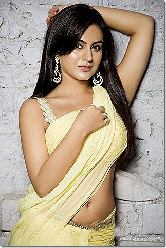 Aksha in saree