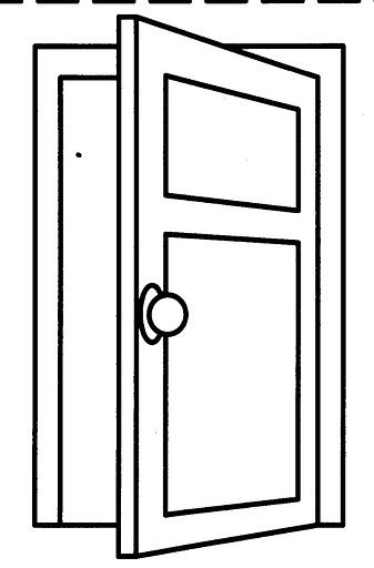 Dibujos de puertas para colorear for Puerta en ingles