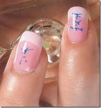 uñas decoradas sencillas con esmalte