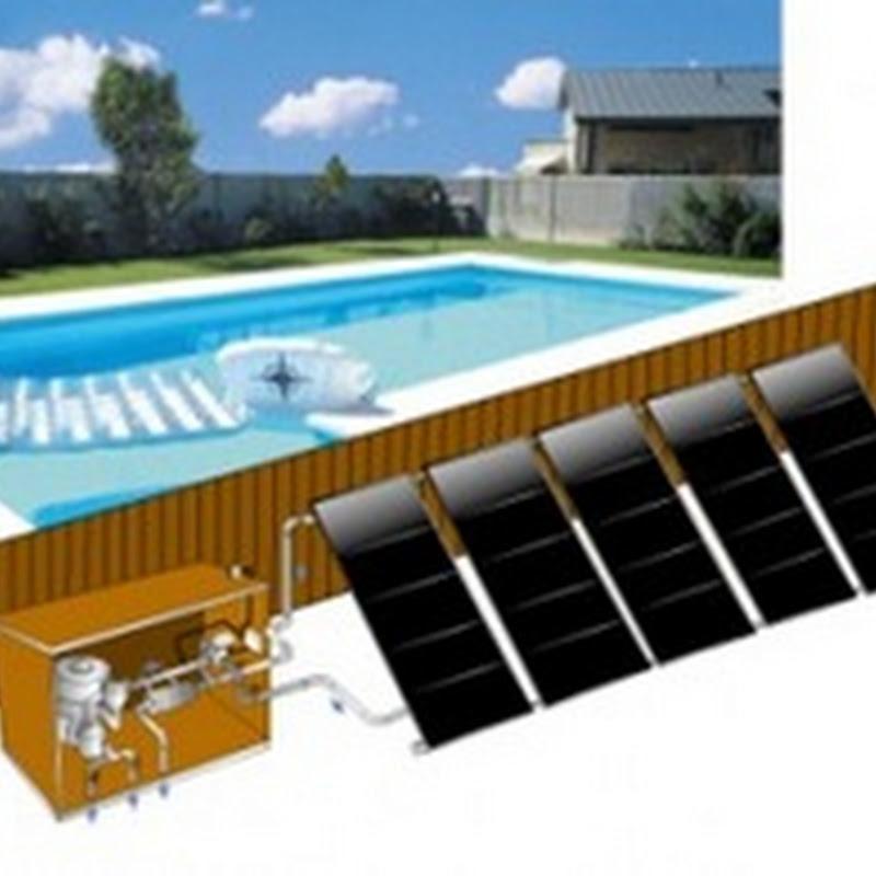 Instalación solar para climatización de piscina en vivienda individual