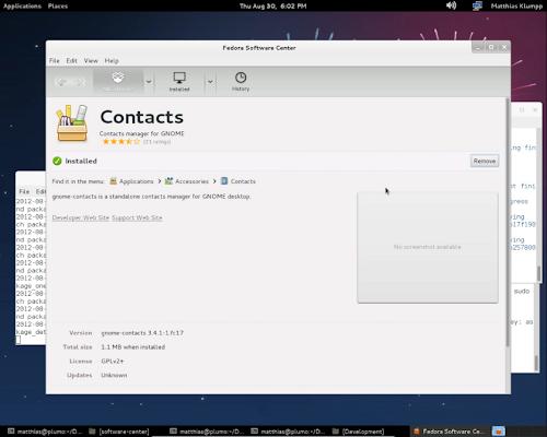 Fedora Software Center