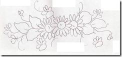 risco flor pintura em tecido 6