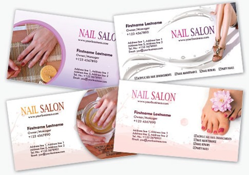 Nail Salon Business Card Templates