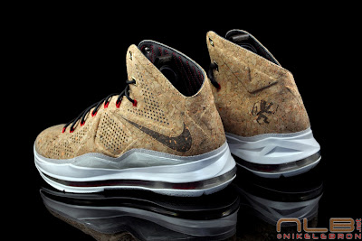 lebron10 nsw cork 34 web black The Showcase: NIKE LEBRON X Cork World Champions Shoes