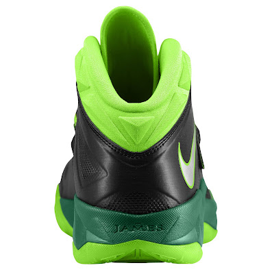 nike zoom soldier 7 gr black neon green 2 02 eastbay LEBRONs Nike Zoom Soldier VII $135 Pack Available at Eastbay