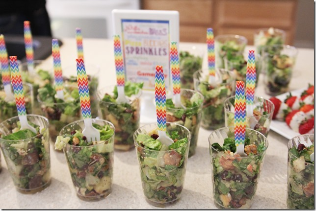 salad cups with washi