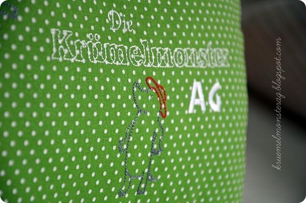 Anja Rieger Fleißige Gärtner - Krümelmonsterkissen (2)