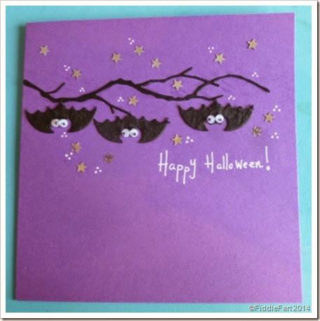 Halloween Bat Card. Bat Card
