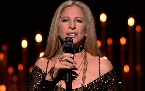 Barbra Streisand singing at the Oscars 2013